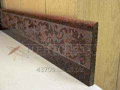 Skirting boards made of marble