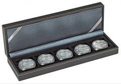 Футляр для 5 монет NERA S с пятью квадратными местами 40x40 ммм