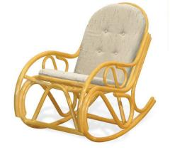 Rocking-chair from a rattan