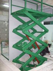 Cargo platform of lever type