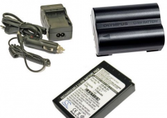 Olympus BLS-1 charger, the Olympus BLM-1