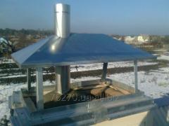 Загильзовка дымоходов и установка вент.труб