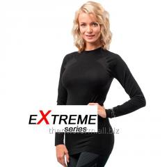 The Thermoform Extreme layered clothing is female