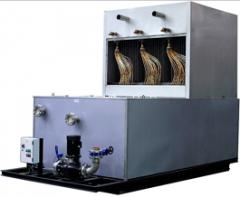Panel film evaporators for ice-water