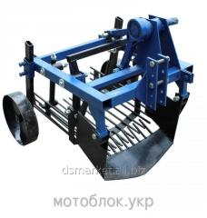 Two-row outboard potato diggers