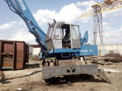 Overloader of scrap metal second-hand Fuchs 713