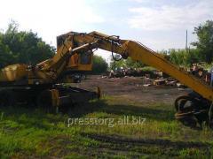 Overloader of scrap metal Sennebogen