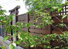 Dekoratif ahşap bahçe çitleri
