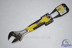 Ключ розводной 200мм. ручка ПВХ сталь 41004