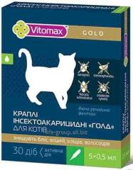 Drops insektoakaritsidny Vitomax Gold for cats