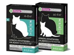 Drops from fleas and ticks for cats of Vitomax