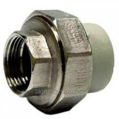 The coupling from America RV d 20х1/2 for PP-R of
