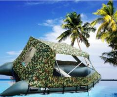 Awnings for inflatable boats, hydrocycles