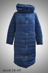 Зимнее пальто с вышивкой, модель 16-65