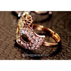Кольцо Маска золотистое tb1098