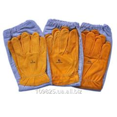Gloves leather with Beeland 13-0006 oversleeves