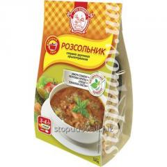 Soups of instant preparation
