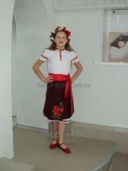 The children's Ukrainian suit for girls [Is