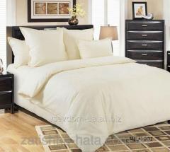 Bed linen Sateen monophonic MILK, No. 001 (Euro)