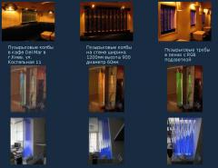 Воздушно-пузырьковые панели и колонны