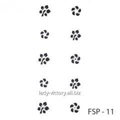 Stencils for nails FSP-02-11, Kharkov