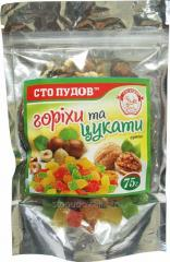 Nuts and candied fruits, 75 g
