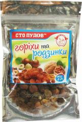 Nuts and raisin, 75 g