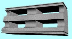 Blocks polystyreneconcrete. Ordinary block