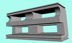 Blocks wall of a penopolistirolbeton