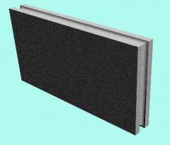 Polysterene concretes. Peregorodochny plates