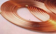Труба медная М2 ф 10х1,5хбт ДКРНМ