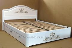 """Double white bed """"Victoria"""" with"""