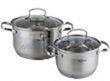 Set of pans of stainless steel 4 subjects (2.5l,