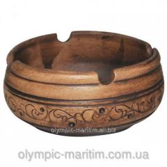 Ashtray from clay Shlyakhtyanskaya 9*4sm