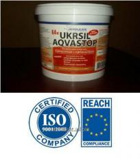 Hydrophobic liquid UKRSIL AQVASTOP potassium glass