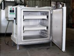 Electric furnaces chamber for drying and