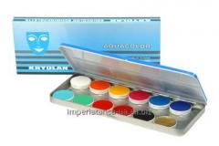 The pressed face painting on a glyceric basis for