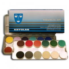 Face painting in a palette 24 colors