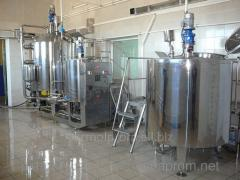 Production line of cosmetic creams, the shampoos