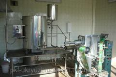 Production line of grass extracts, spirit and