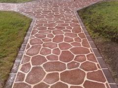 Path polymeric covering