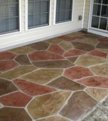 Path covering stamped concrete 0001