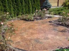 Path covering stamped concrete 0007