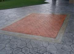 Concrete tile tracks curly