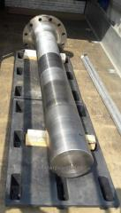 Power shafts lower and top (screw tips) transport