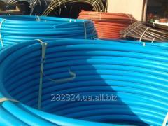 Pipes pressure head of PE-100 polyethylene