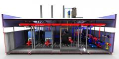 Modular boiler rooms production of transportable