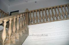 Handrail from a marble and a granite