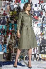Dress safari from genuine leather