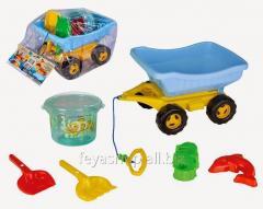 Песочный набор (5 предметов в тележке) PILSAN 06-100